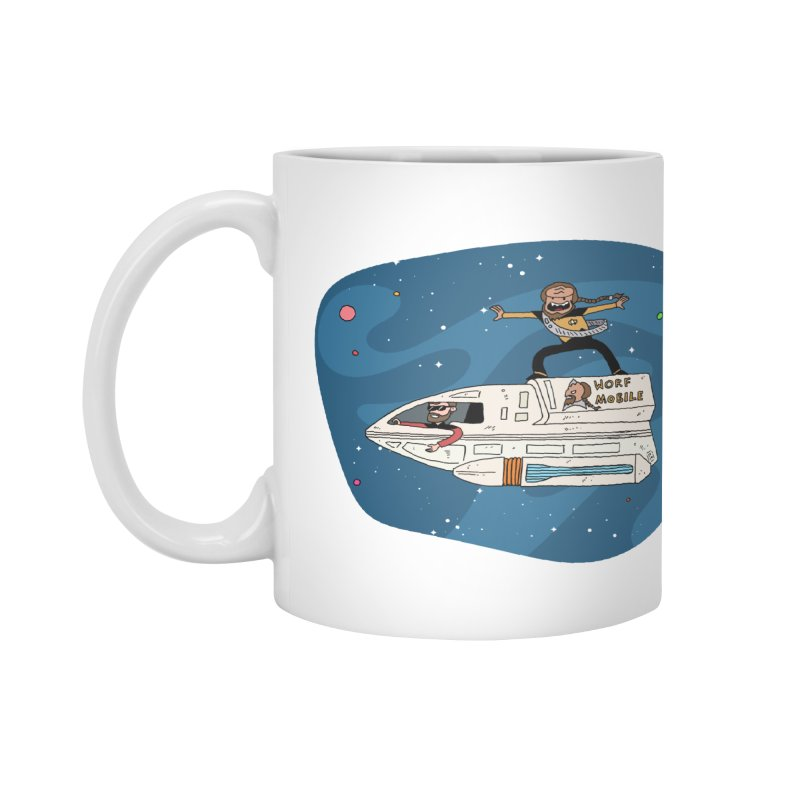 Teen Worf - These waves are mine, Commander. Accessories Mug by Lee Draws Stuff