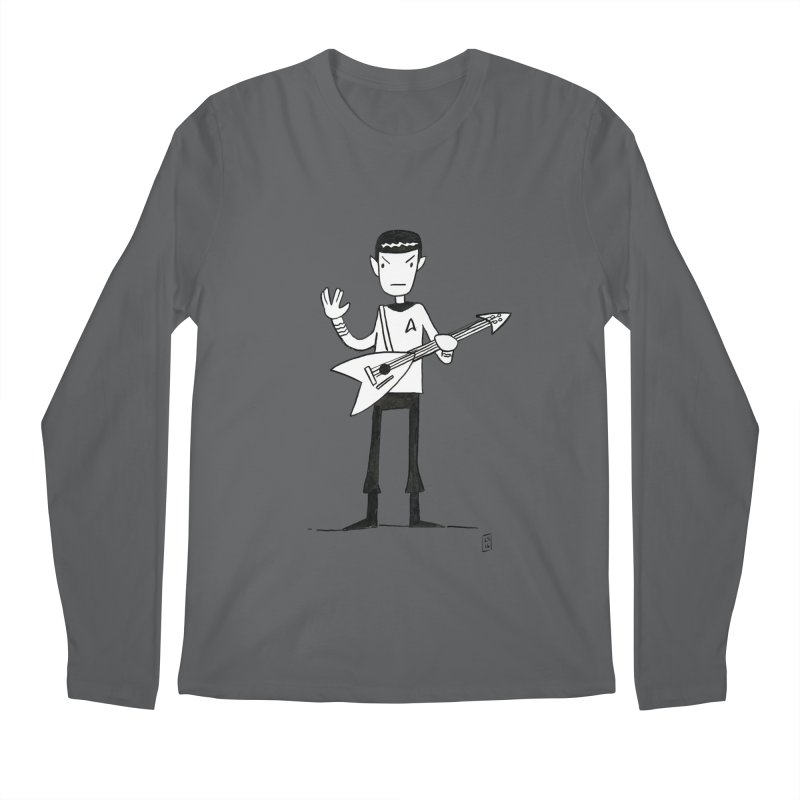 Spock Rocks Men's Longsleeve T-Shirt by Lee Draws Stuff