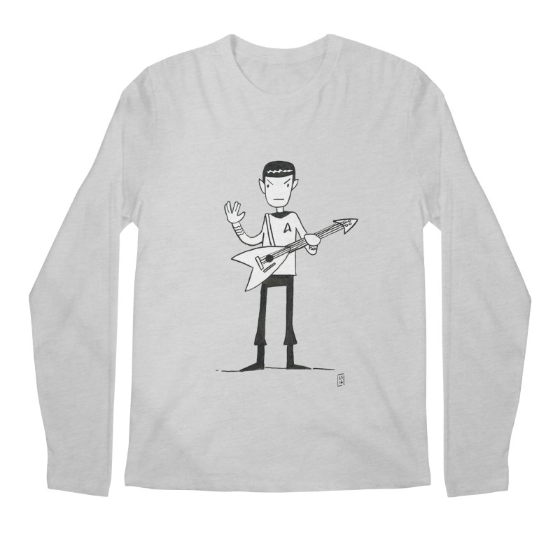 Spock Rocks Men's Longsleeve T-Shirt by Lee Draws Stuff