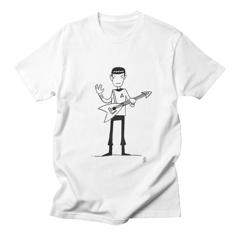 Spock Rocks Men's T-Shirt by Lee Draws Stuff