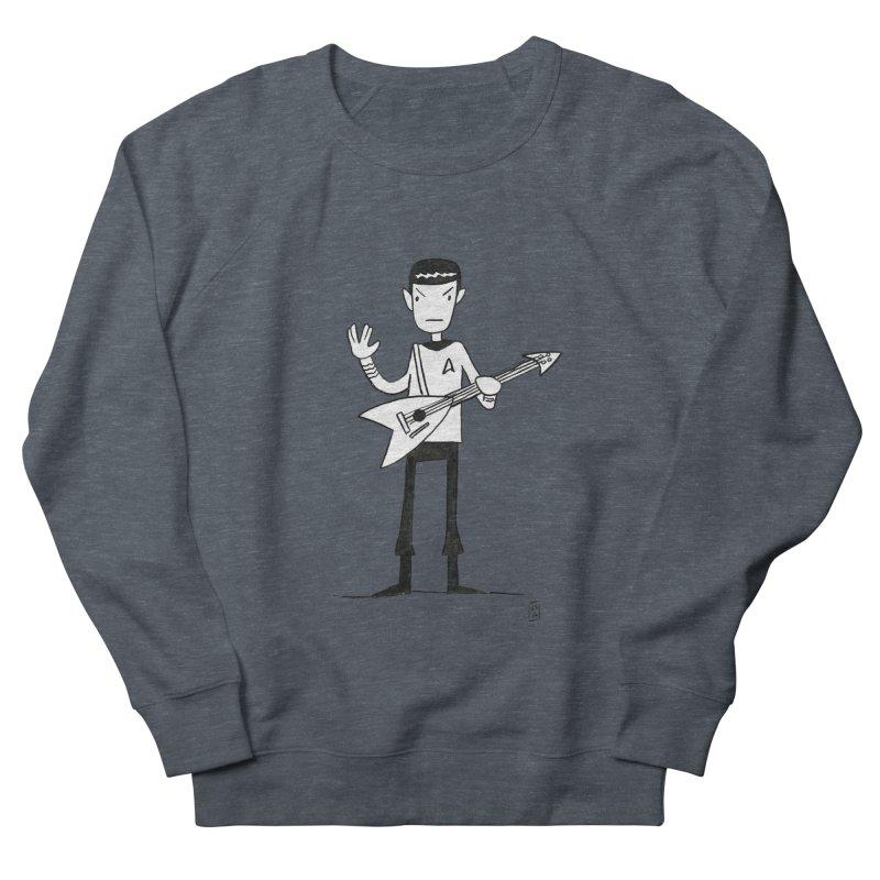 Spock Rocks Women's French Terry Sweatshirt by Lee Draws Stuff