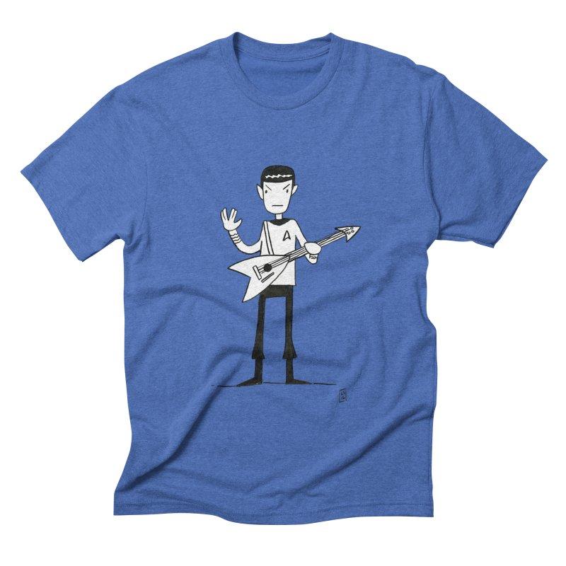 Spock Rocks Men's Triblend T-Shirt by Lee Draws Stuff