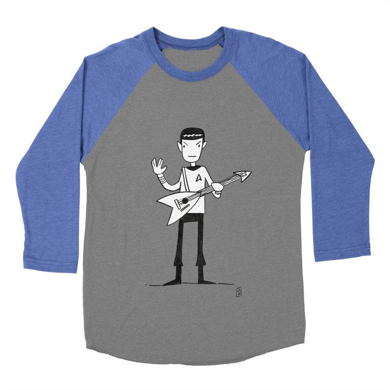 Spock Rocks Women's Baseball Triblend T-Shirt by Lee Draws Stuff