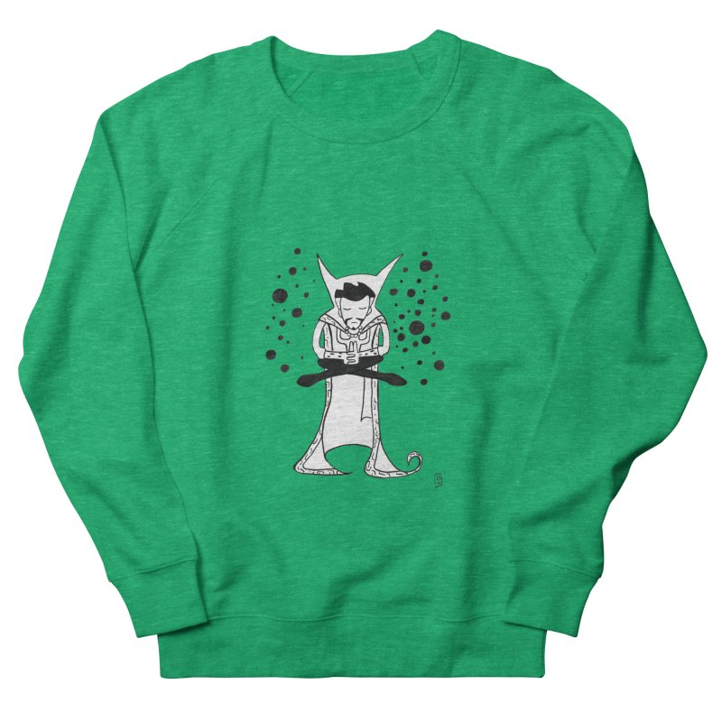 Strange Meditation Men's French Terry Sweatshirt by Lee Draws Stuff