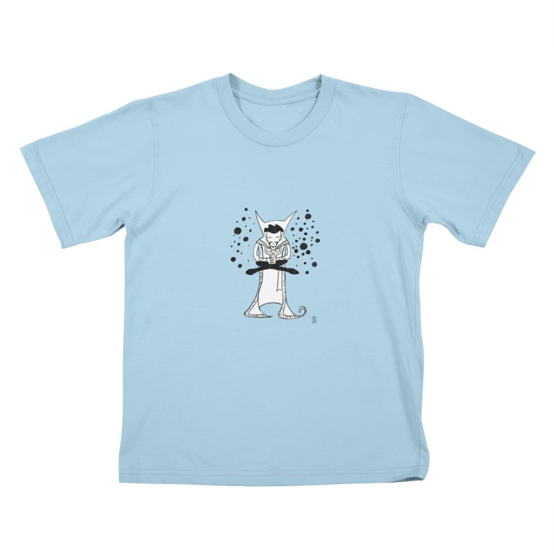Strange Meditation Kids T-Shirt by Lee Draws Stuff