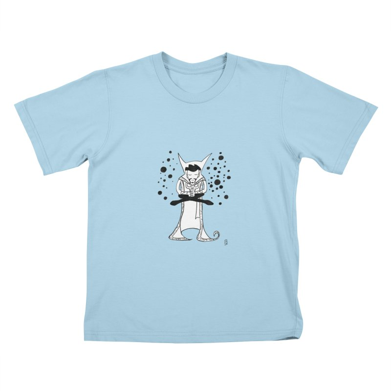 Strange Meditation Kids T-Shirt by Lee Draws Stuff