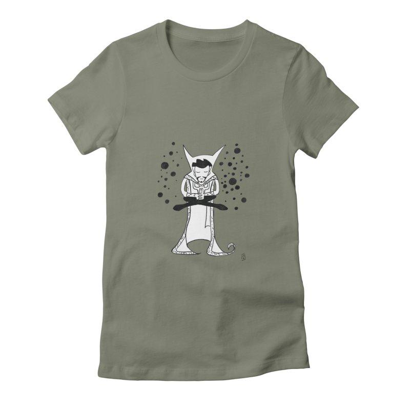 Strange Meditation Women's Fitted T-Shirt by Lee Draws Stuff