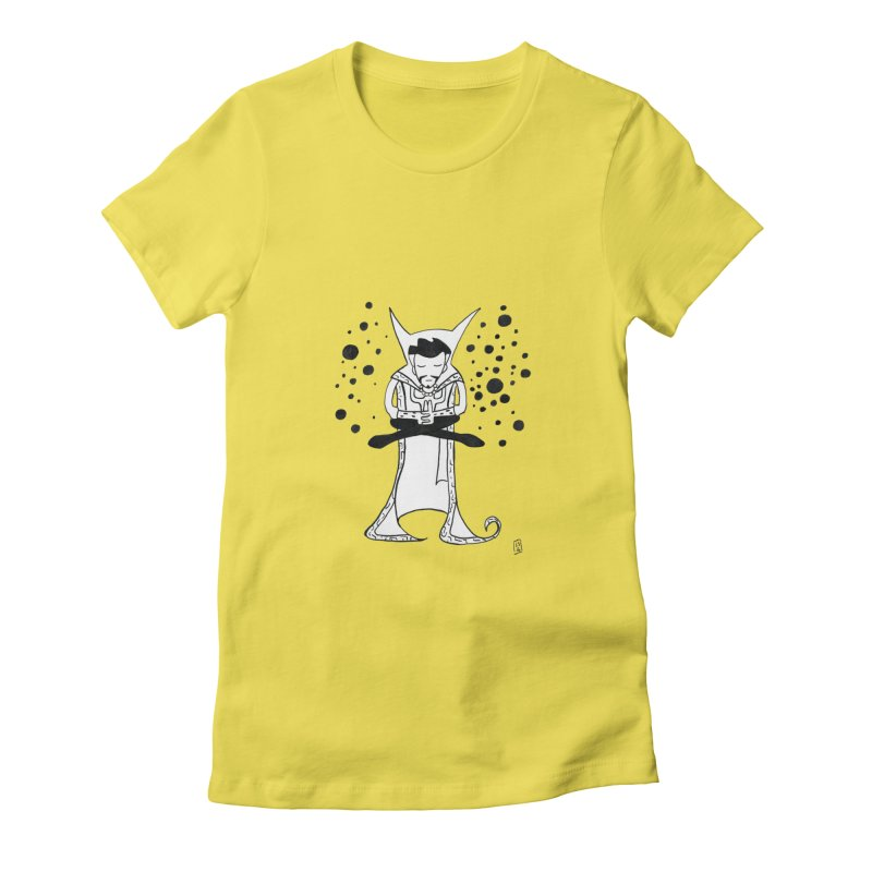 Strange Meditation Women's Fitted T-Shirt by Lee Draws Stuff