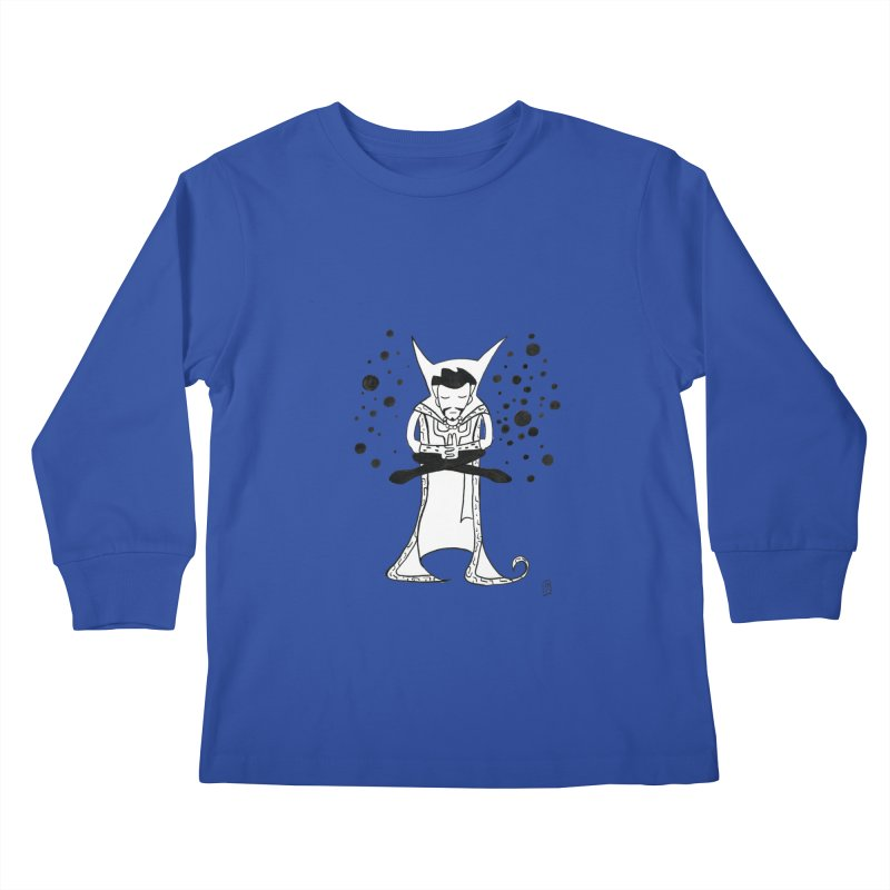 Strange Meditation Kids Longsleeve T-Shirt by Lee Draws Stuff