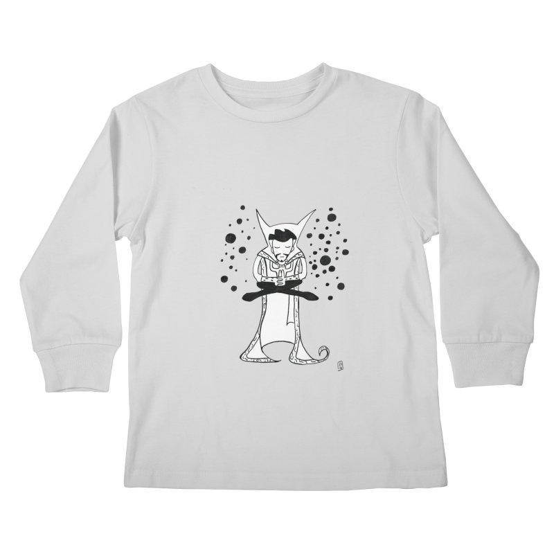 Strange Meditation Kids Longsleeve T-Shirt by Lee Draws Stuff
