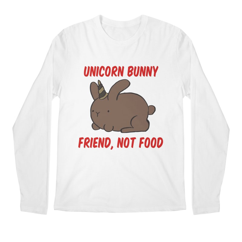 Friend not Food Men's Longsleeve T-Shirt by Lee Draws Stuff