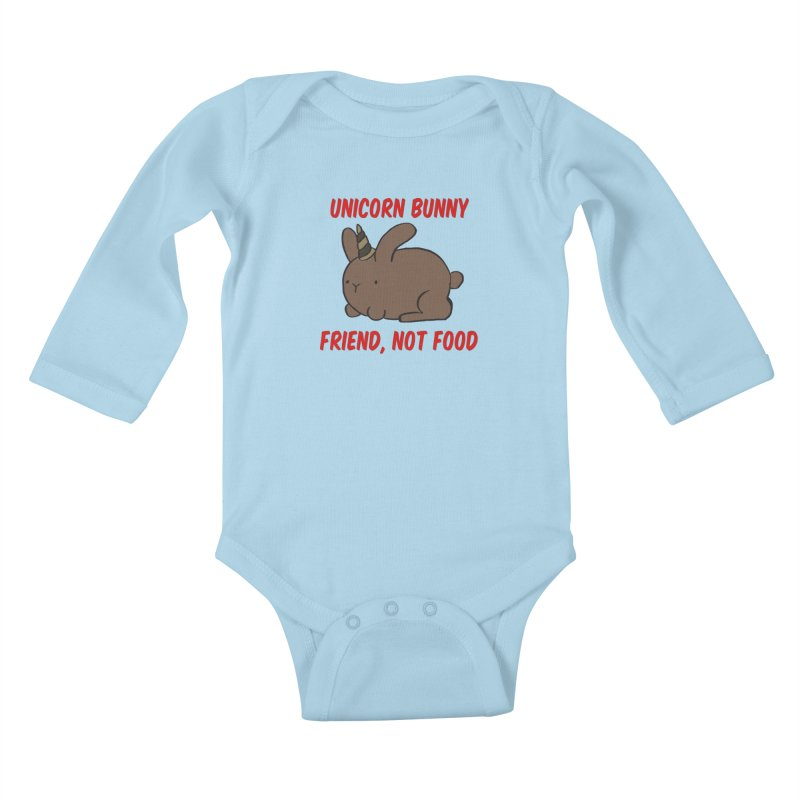 Friend not Food Kids Baby Longsleeve Bodysuit by Lee Draws Stuff