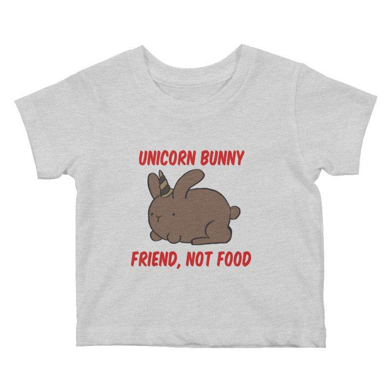 Friend not Food Kids Baby T-Shirt by Lee Draws Stuff
