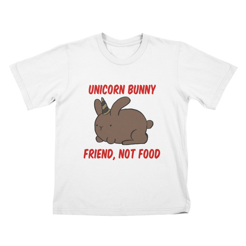 Friend not Food Kids T-Shirt by Lee Draws Stuff