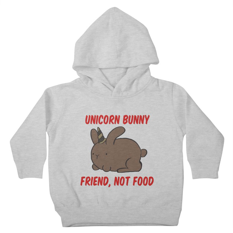 Friend not Food Kids Toddler Pullover Hoody by Lee Draws Stuff