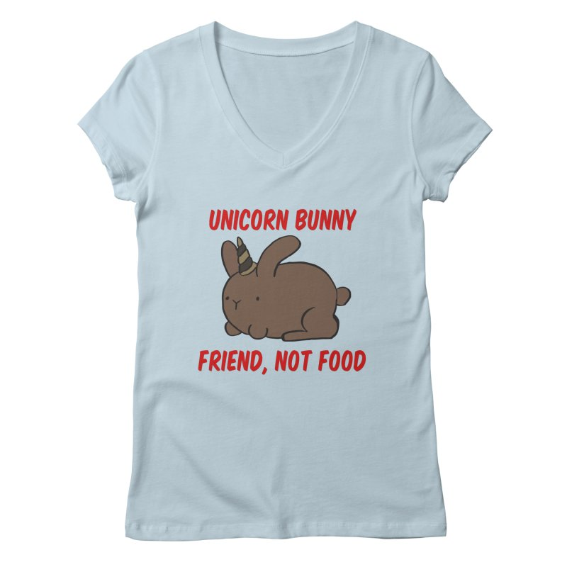 Friend not Food Women's V-Neck by Lee Draws Stuff