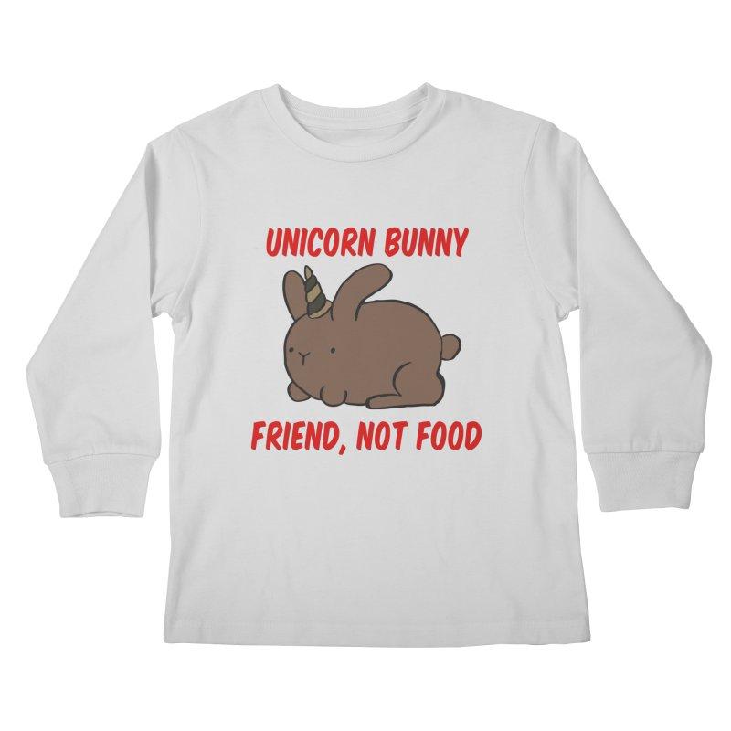 Friend not Food Kids Longsleeve T-Shirt by Lee Draws Stuff