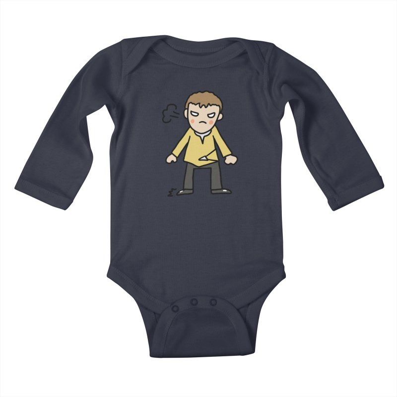 Chuck X Kids Baby Longsleeve Bodysuit by Lee Draws Stuff