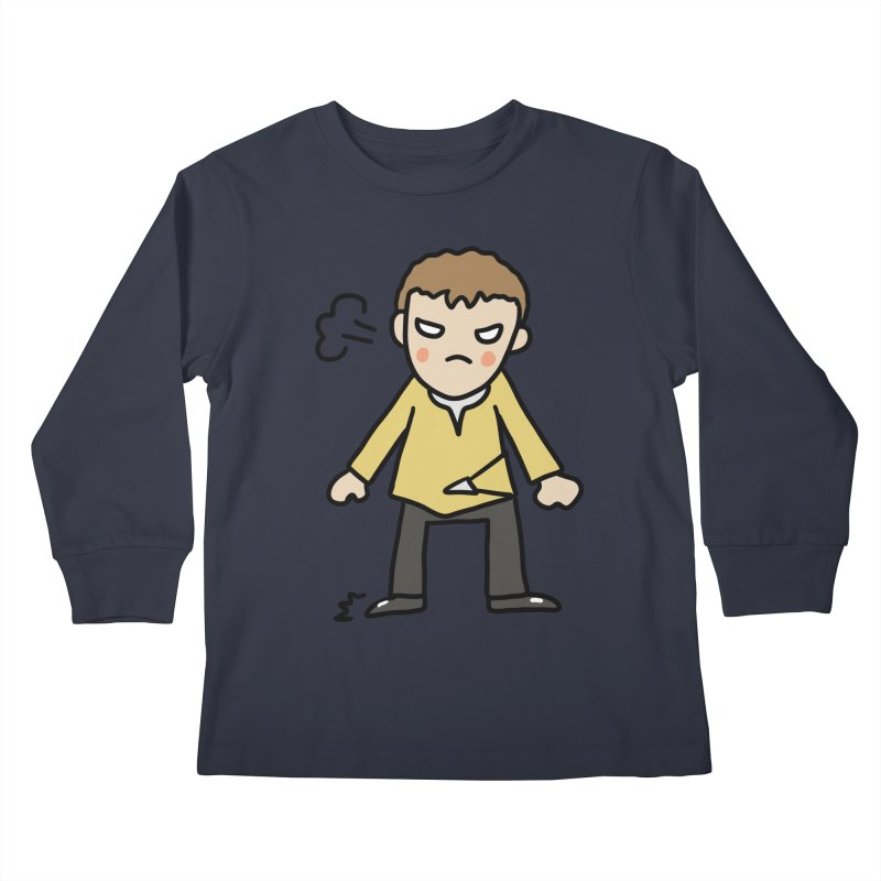 Chuck X Kids Longsleeve T-Shirt by Lee Draws Stuff
