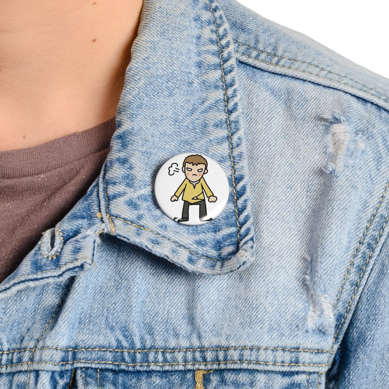 Chuck X Accessories Button by Lee Draws Stuff