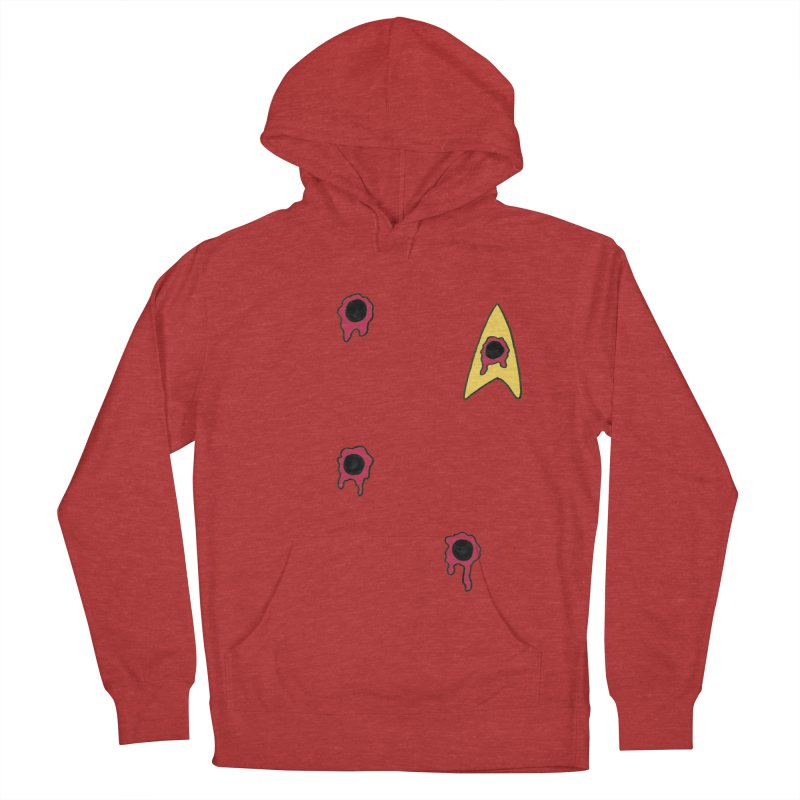 Red Shirt Human Men's French Terry Pullover Hoody by Lee Draws Stuff
