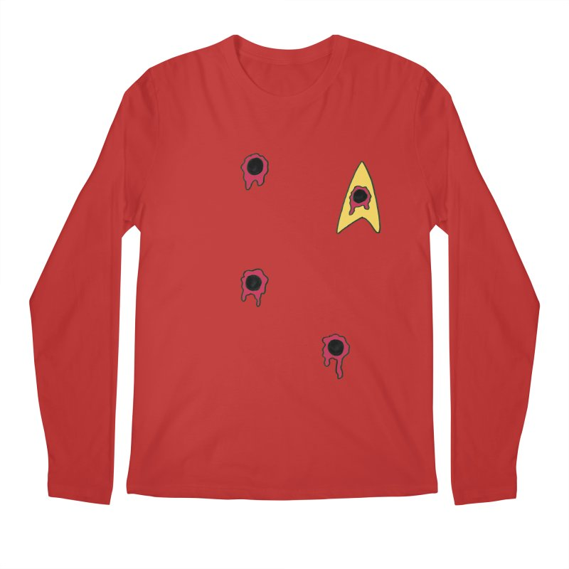 Red Shirt Human Men's Longsleeve T-Shirt by Lee Draws Stuff