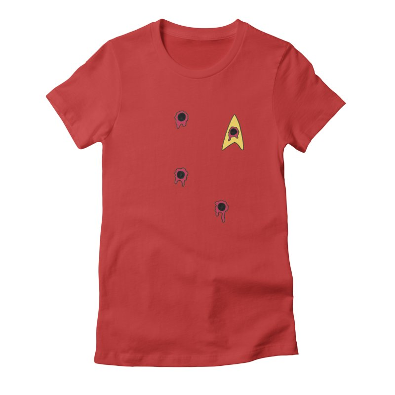 Red Shirt Human Women's T-Shirt by Lee Draws Stuff