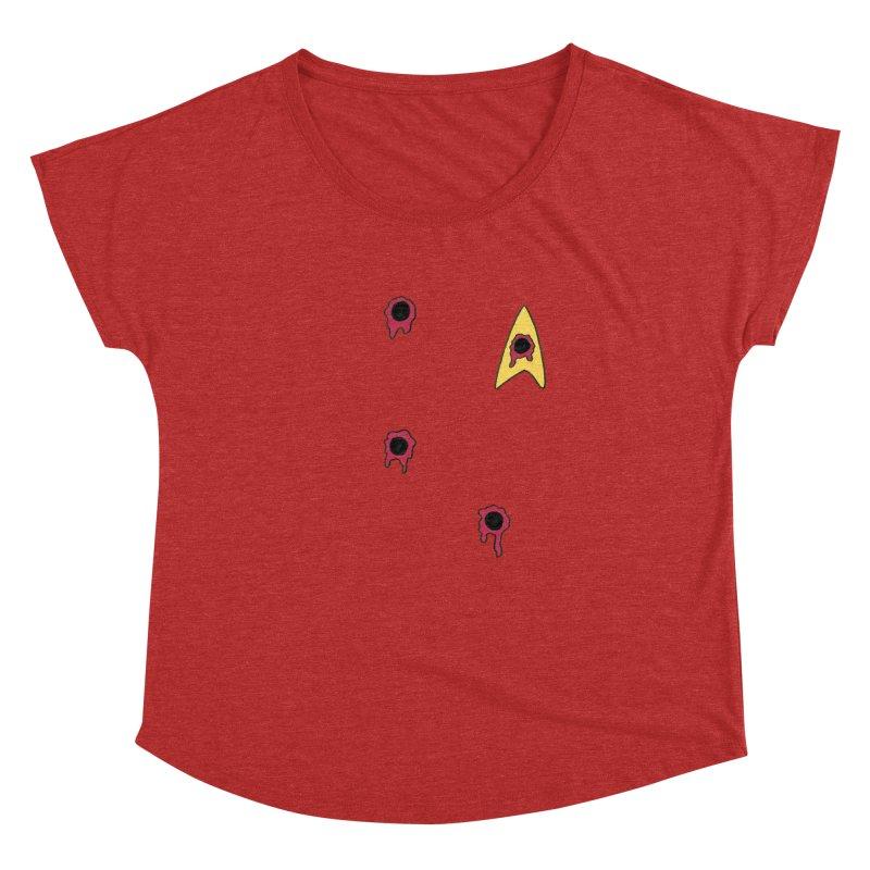 Red Shirt Human Women's Dolman Scoop Neck by Lee Draws Stuff