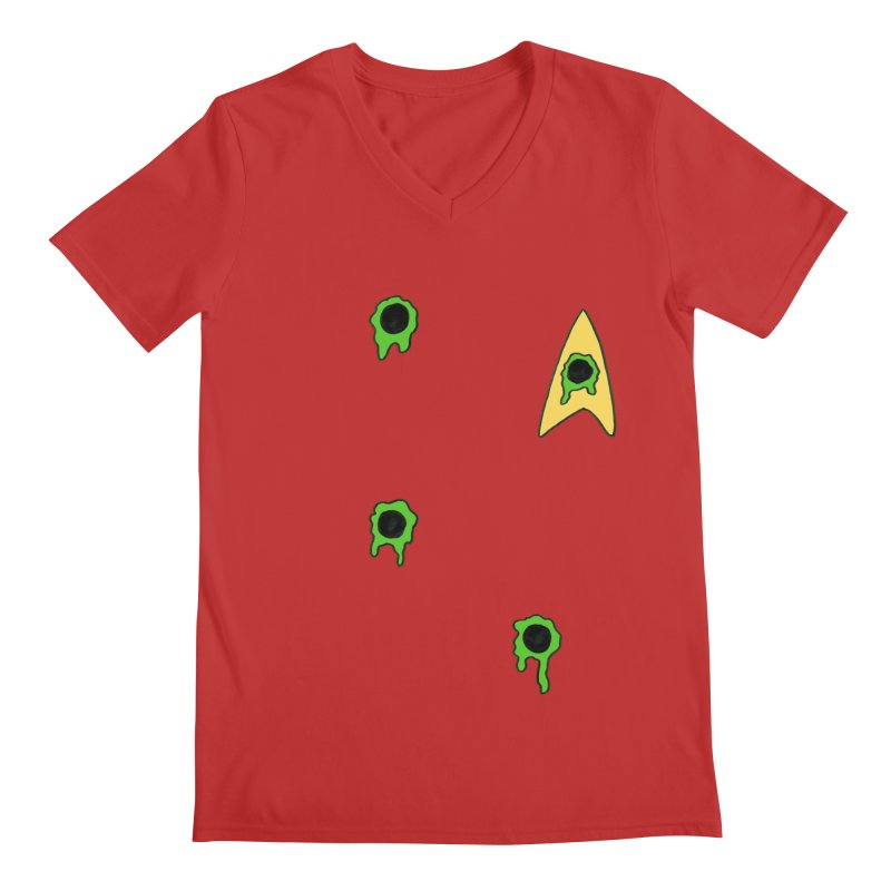 Red Shirt - Vulcan Men's V-Neck by Lee Draws Stuff
