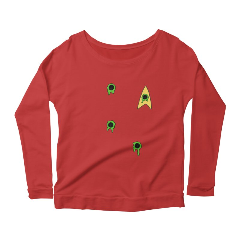 Red Shirt - Vulcan Women's Longsleeve Scoopneck  by Lee Draws Stuff