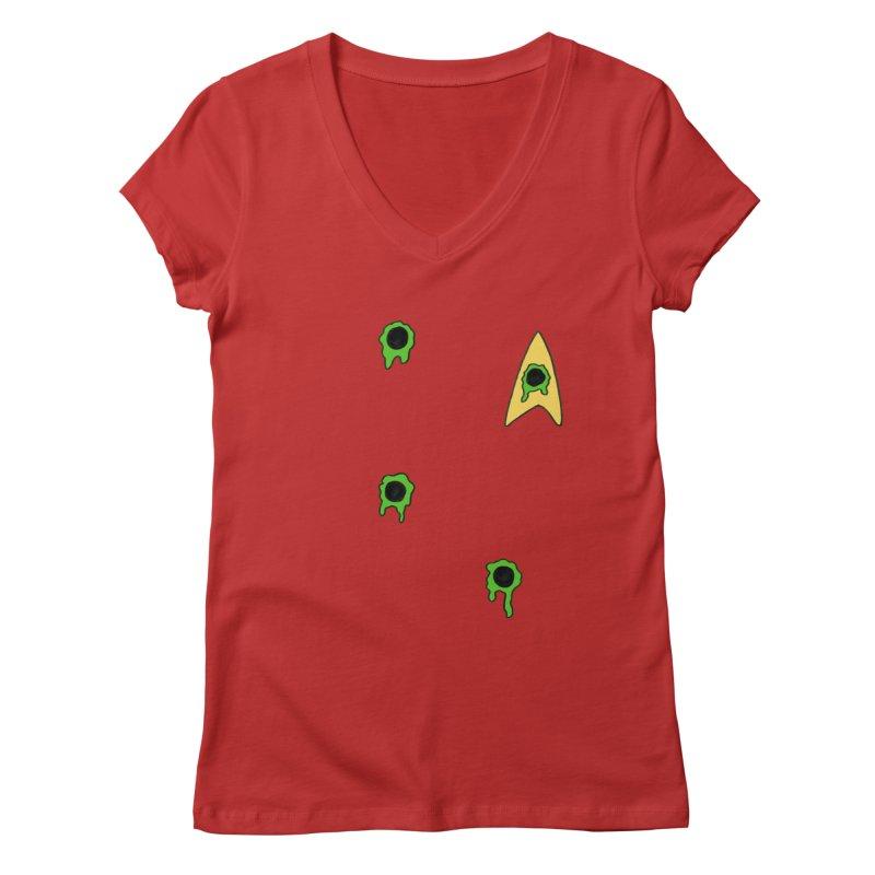 Red Shirt - Vulcan Women's Regular V-Neck by Lee Draws Stuff