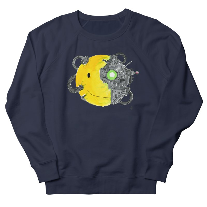Don't Worry Be Assimilated. Men's French Terry Sweatshirt by Lee Draws Stuff