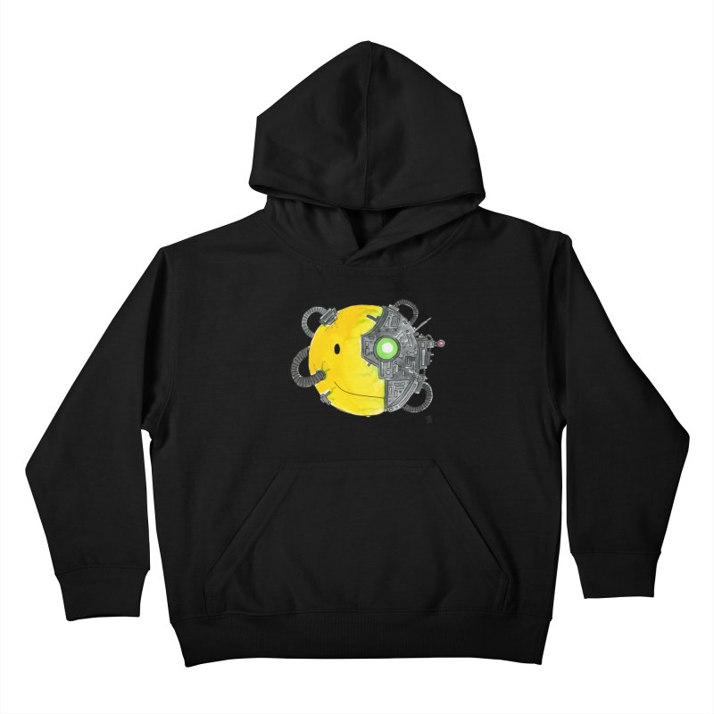 Don't Worry Be Assimilated. Kids Pullover Hoody by Lee Draws Stuff