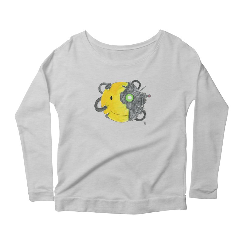 Don't Worry Be Assimilated. Women's Longsleeve Scoopneck  by Lee Draws Stuff
