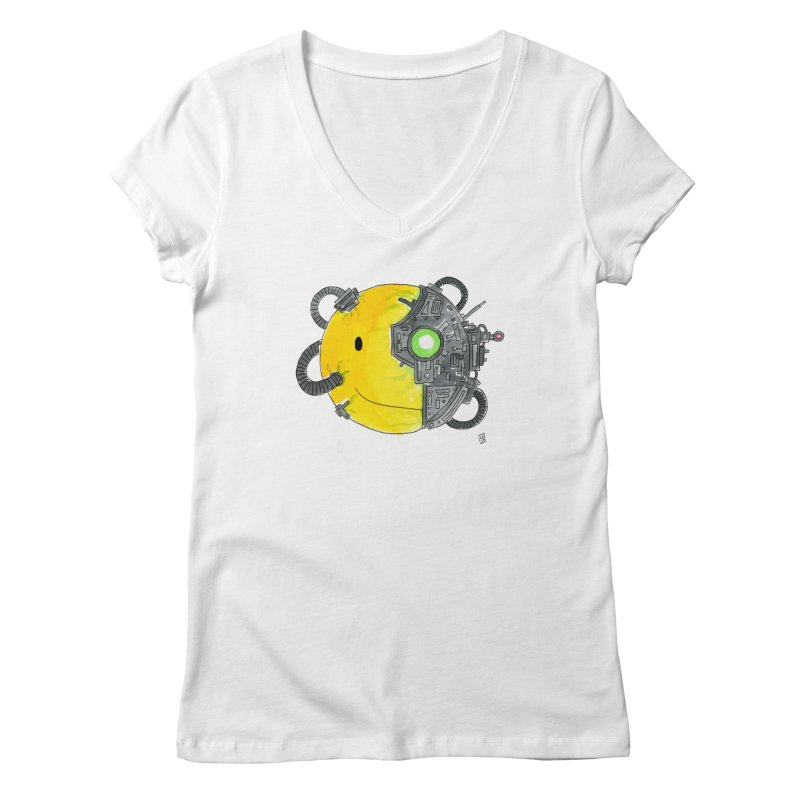 Don't Worry Be Assimilated. Women's Regular V-Neck by Lee Draws Stuff
