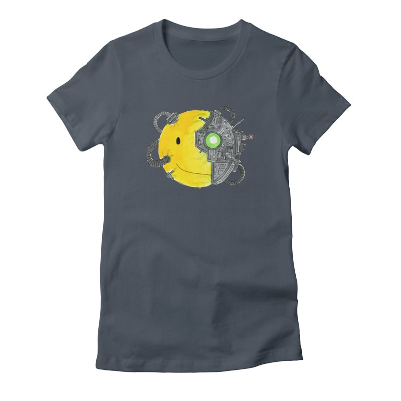 Don't Worry Be Assimilated. Women's Fitted T-Shirt by Lee Draws Stuff