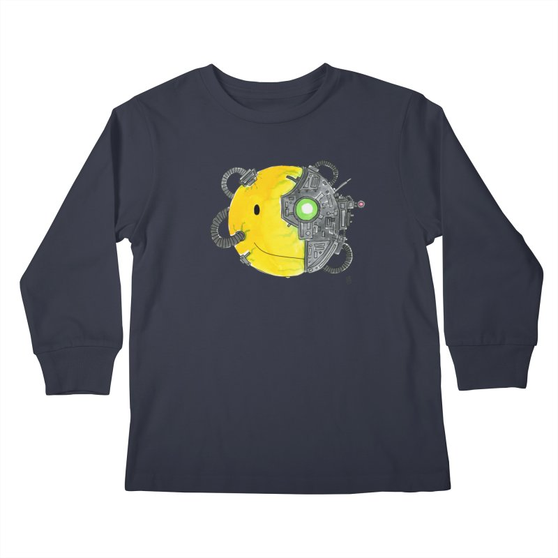 Don't Worry Be Assimilated. Kids Longsleeve T-Shirt by Lee Draws Stuff