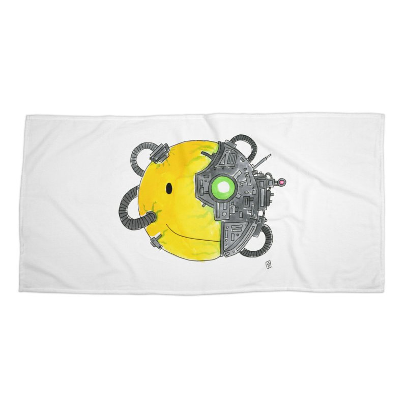 Don't Worry Be Assimilated. Accessories Beach Towel by Lee Draws Stuff