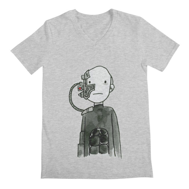 Locutus Men's V-Neck by Lee Draws Stuff