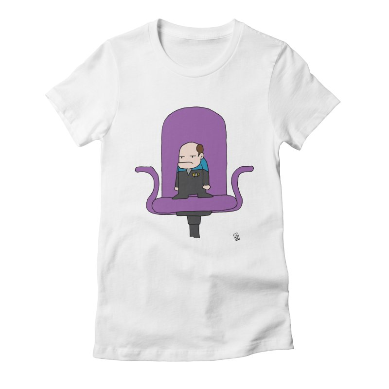 He's just a little grumpy Women's Fitted T-Shirt by Lee Draws Stuff