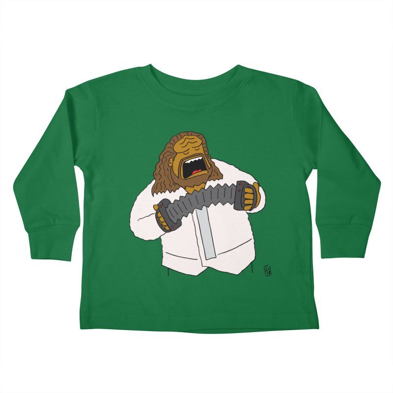 Perhaps today is a good day to dine! Kids Toddler Longsleeve T-Shirt by Lee Draws Stuff