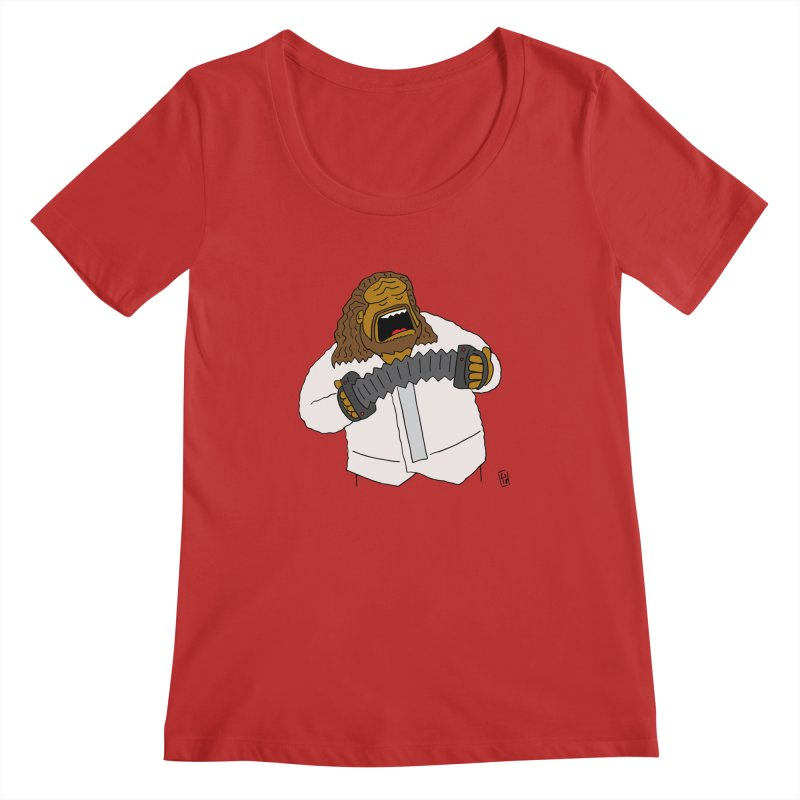 Perhaps today is a good day to dine! Women's Regular Scoop Neck by Lee Draws Stuff