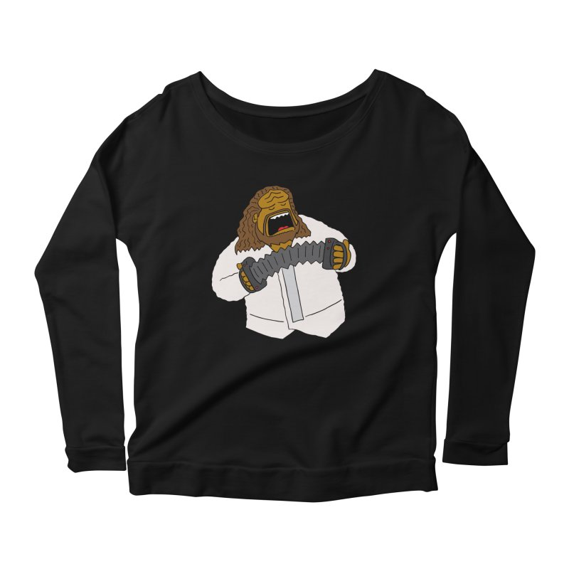 Perhaps today is a good day to dine! Women's Longsleeve Scoopneck  by Lee Draws Stuff