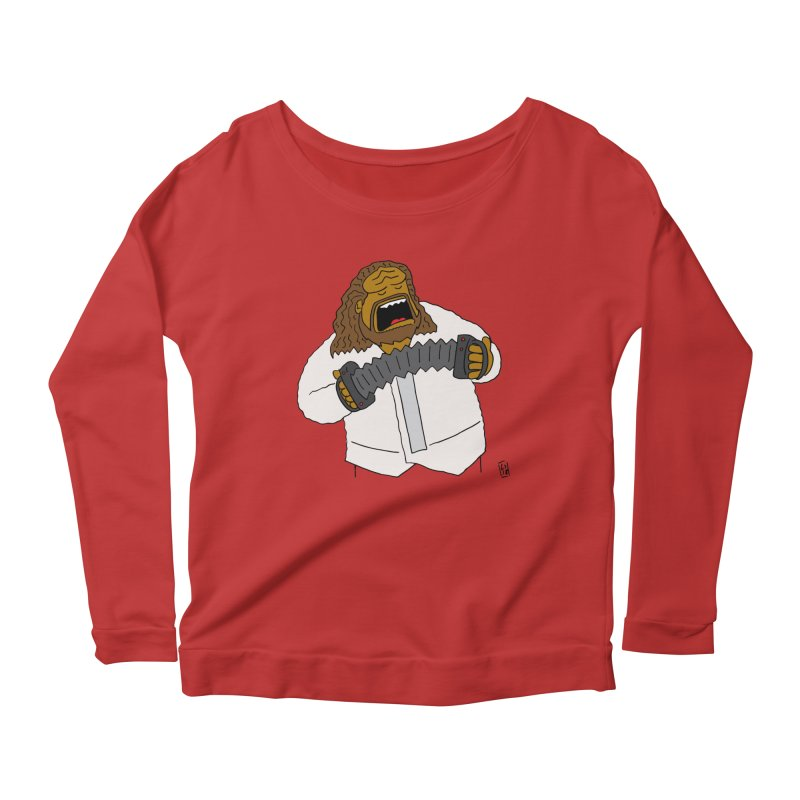 Perhaps today is a good day to dine! Women's Scoop Neck Longsleeve T-Shirt by Lee Draws Stuff