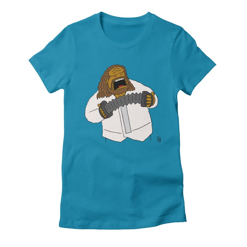 Perhaps today is a good day to dine! Women's Fitted T-Shirt by Lee Draws Stuff