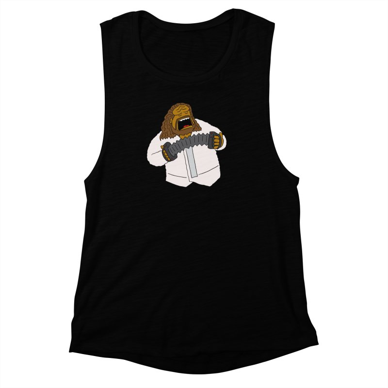 Perhaps today is a good day to dine! Women's Muscle Tank by Lee Draws Stuff