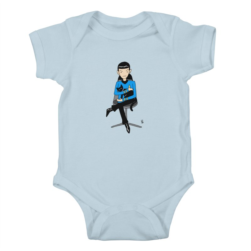 Live Long and Pawspurr Kids Baby Bodysuit by Lee Draws Stuff