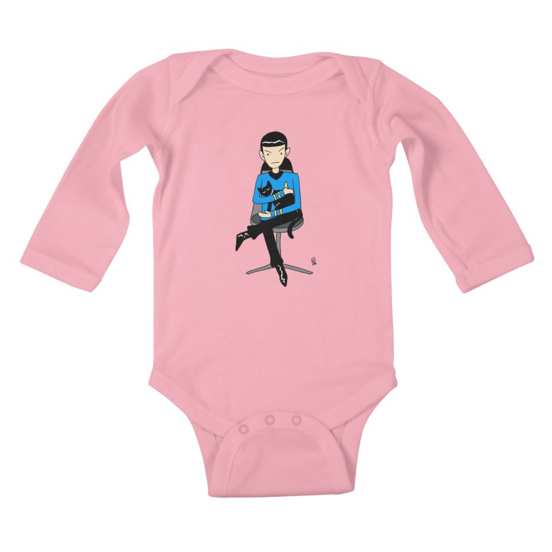 Live Long and Pawspurr Kids Baby Longsleeve Bodysuit by Lee Draws Stuff