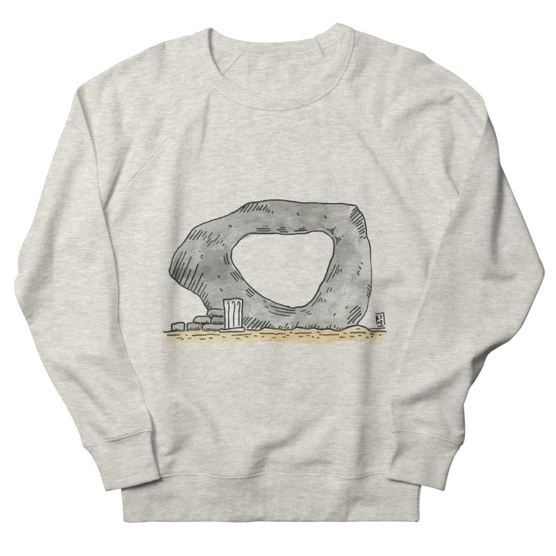 Waiting for a question Men's French Terry Sweatshirt by Lee Draws Stuff