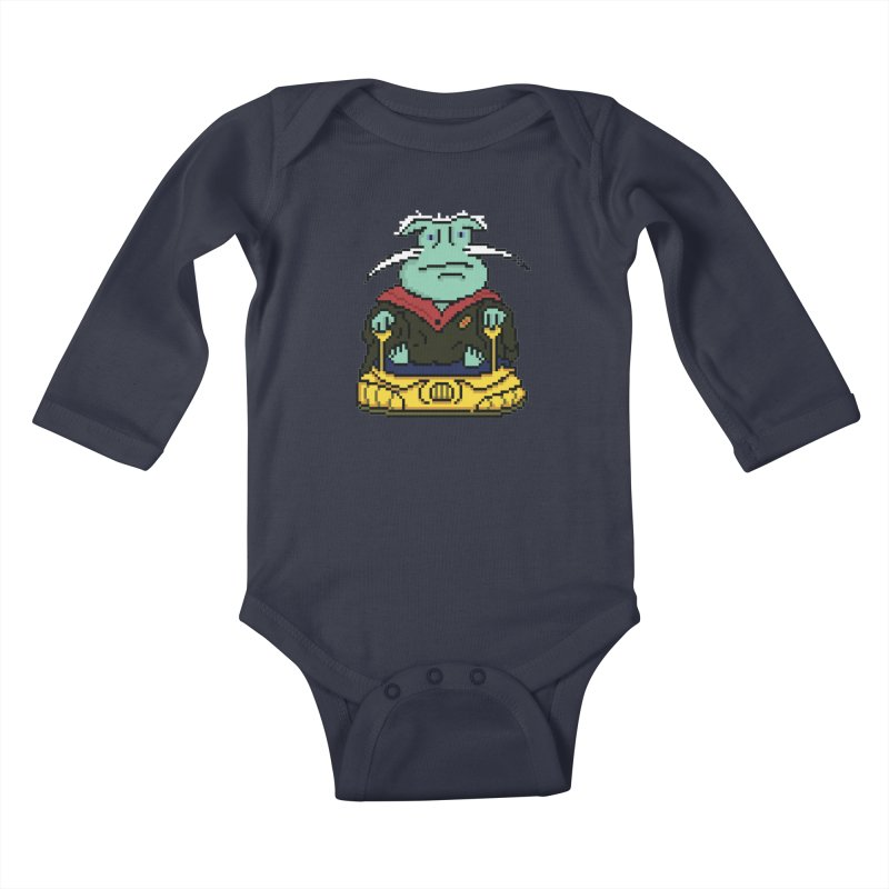 The 8Bit Dominar Kids Baby Longsleeve Bodysuit by Lee Draws Stuff